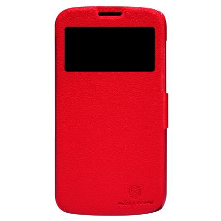 เคสฝาพับ Galaxy Grand 2 ของ Nillkin Fresh - สีแดง
