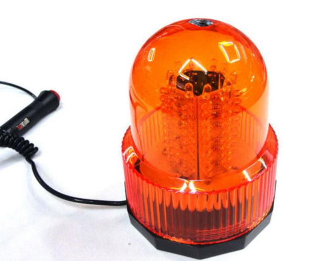 ไฟไซเรนติดหลังคา LED 100 ดวง เลนส์สีส้ม