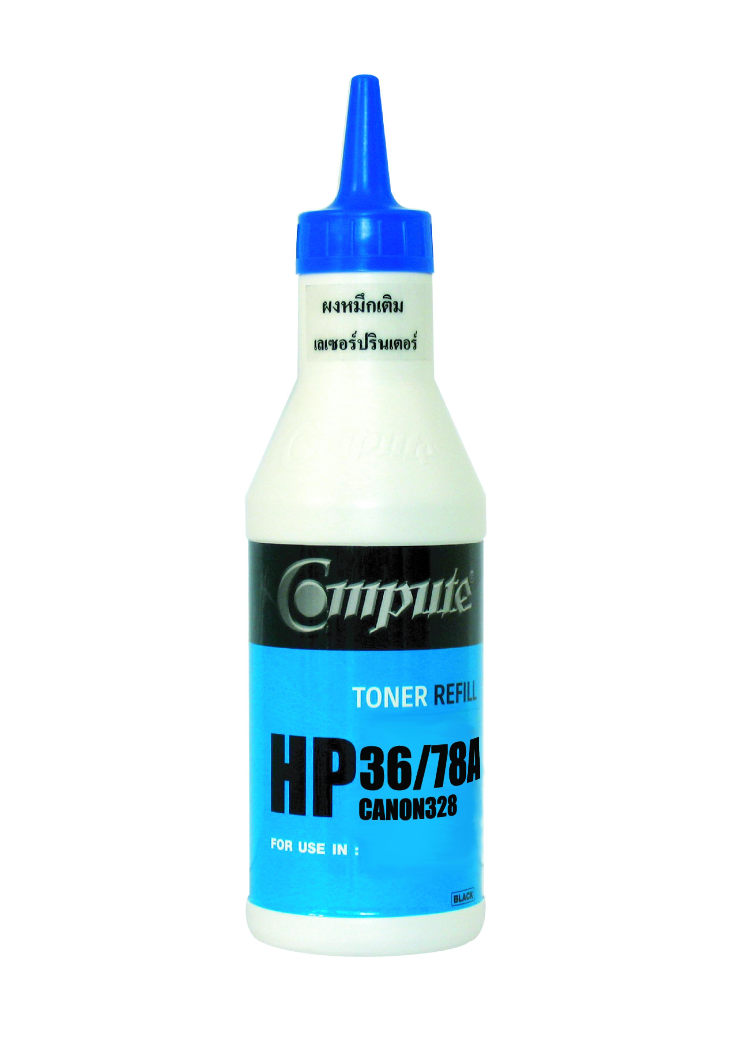 ผงหมึกเติม(Refill Toner) คอมพิวท์ For HP CB436A