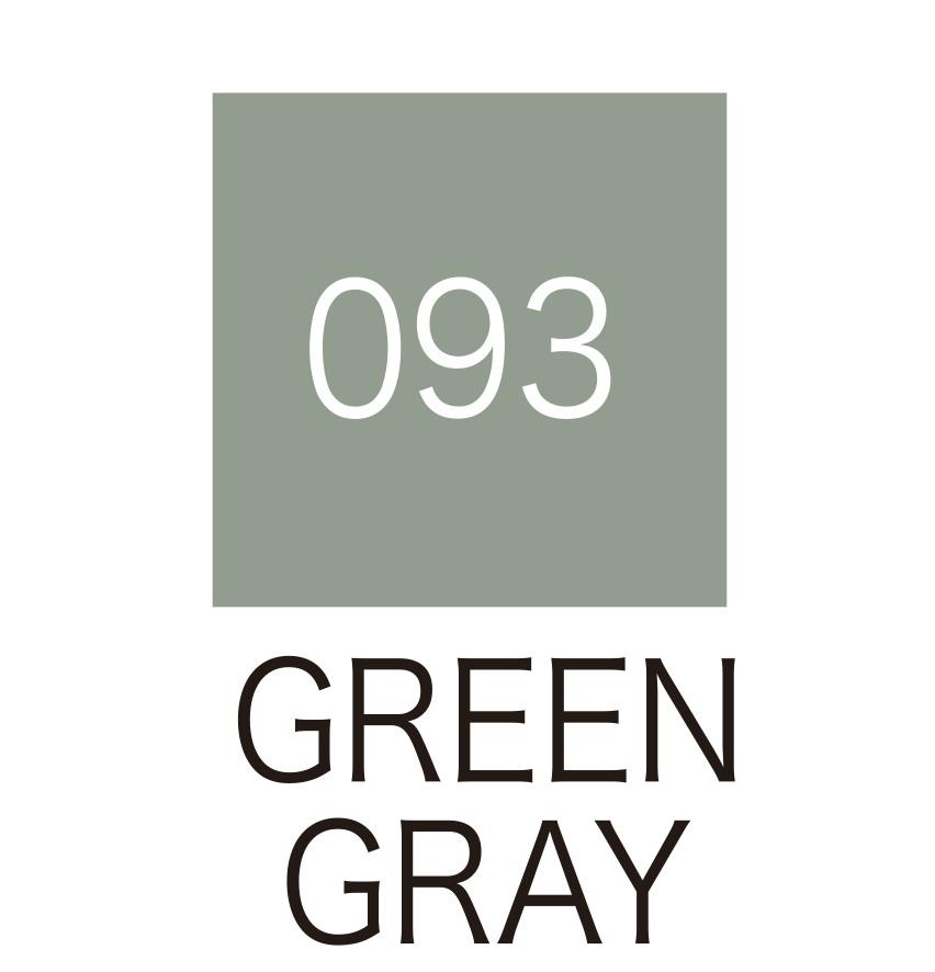 ปากกาสี 2 หัว ZIG CLEAN COLOR No.093 - Green Gray