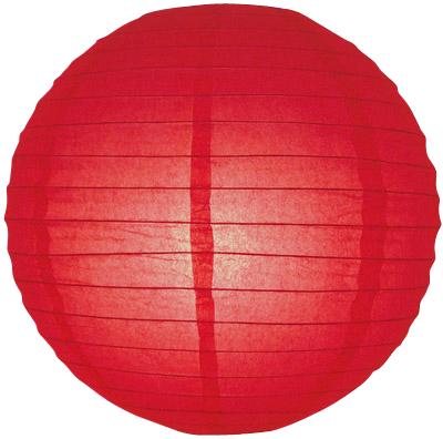 40 cm. โคมไฟกระดาษ แดง