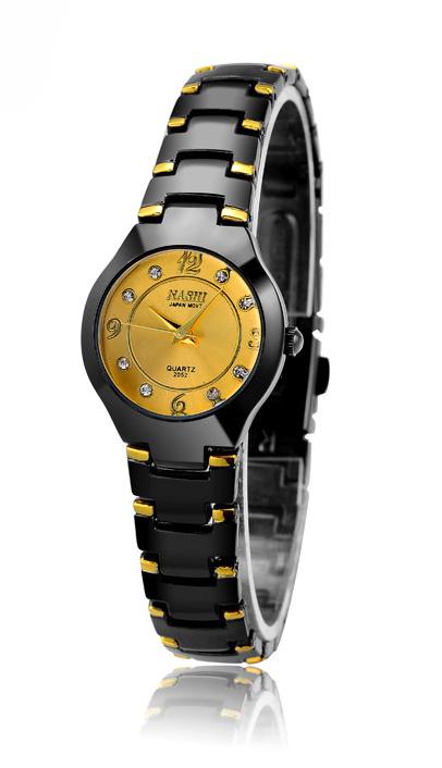 NASHI watches women นาฬิกาผู้หญิง แบรนด์ของฮ่องกง ระบบควอทด์ กันน้ำ กันขูดขีด