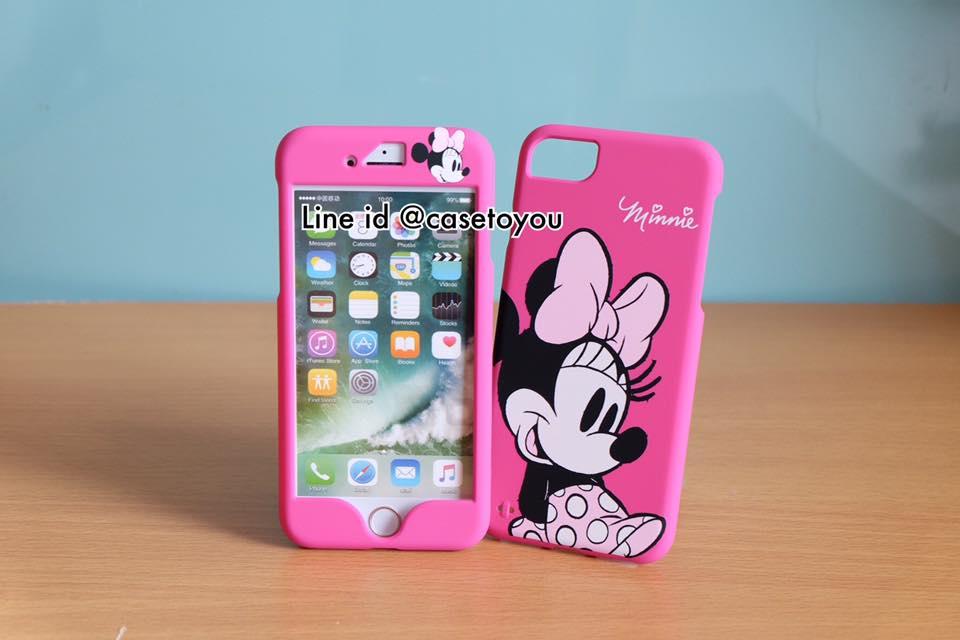 เคสประกบหน้า-หลัง Minnie Mouse สำหรับ iPhone 7