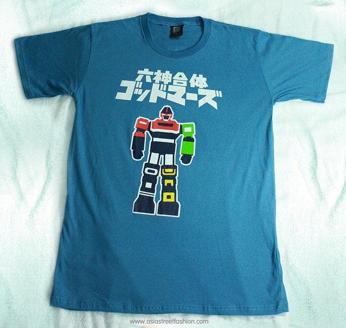 T-Shirt เสื้อยืดกันดั้ม ก็อดมาร์ส Godmars สุดเท่ห์ สีคราม จากร้าน GUNZU !!โปรโมชั่น