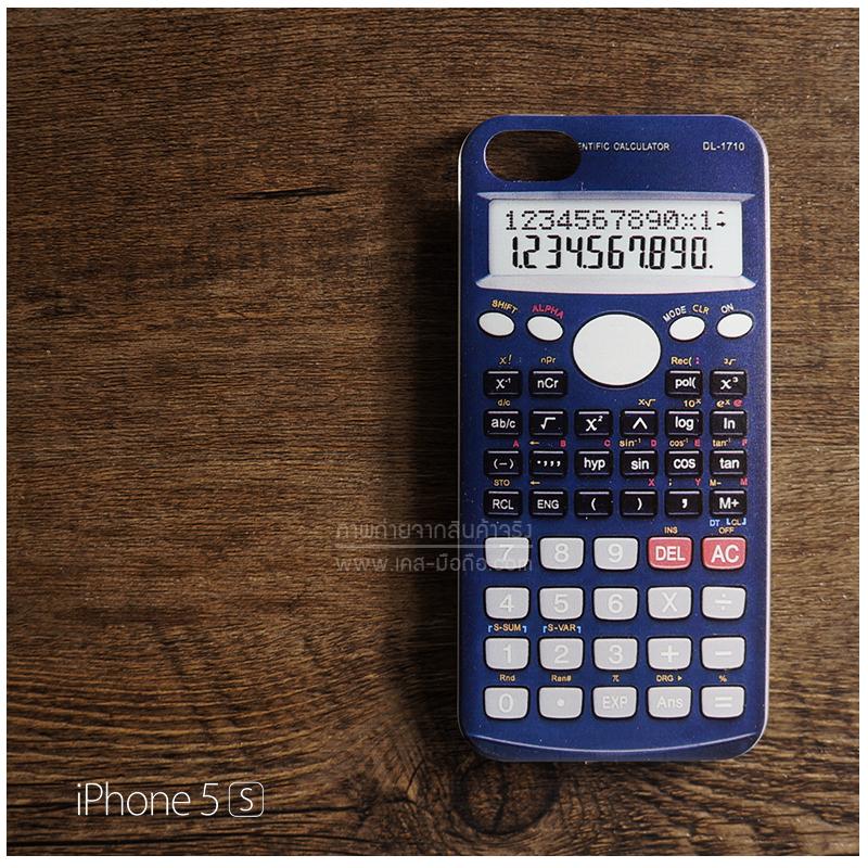 เคส iPhone 5 / 5S / SE เคส TPU พิมพ์ลาย เครื่องคิดเลข สีน้ำเงิน