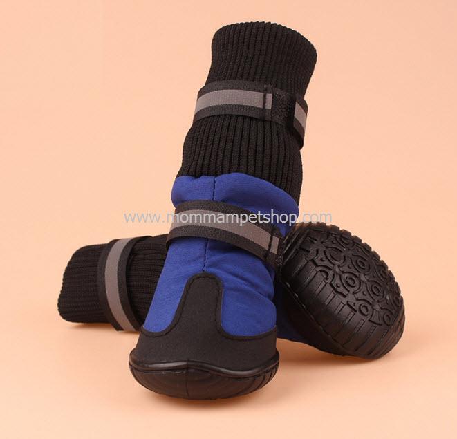 รองเท้าสุนัขโต สีน้ำเงิน (4 ข้าง)