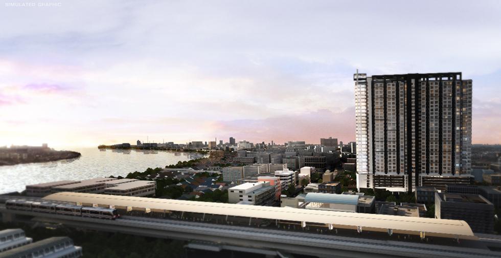 ให้เช่าคอนโด เดอะ ทรี อินเตอร์เชนจ์ The Tree Interchange วิวแม่น้ำเจ้าพระยา ราคา 12000 บาทต่อเดือน ตึก A ชั้น 15 เนื้อที่ 36. ตร.ม.