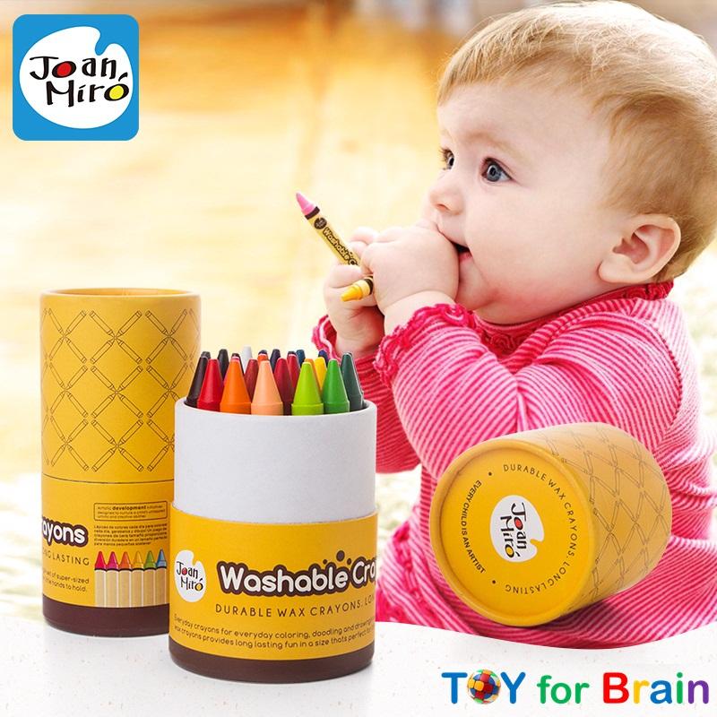 สีเทียนแบบล้างออกง่าย Joan Miro Washable Crayon - 16 colors
