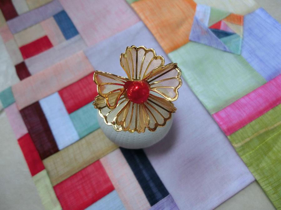 Hanbok hair pin ที่ปักผมฮันบกสีทอง รุ่นใหญ่ เซต 2 ชิ้น