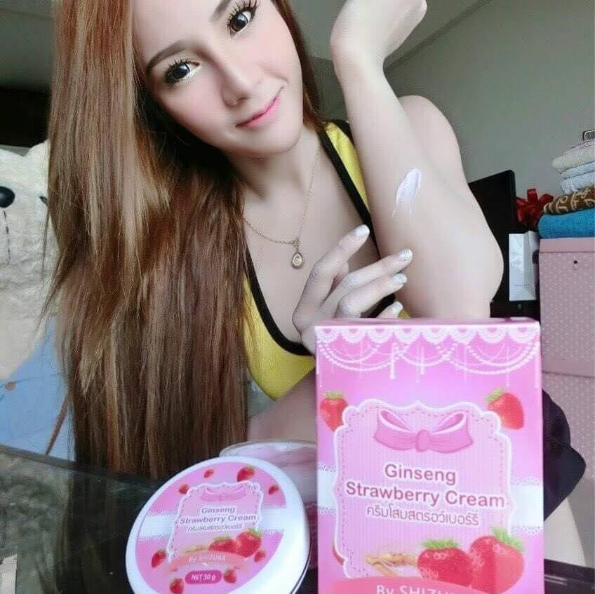 ครีมโสมสตรอเบอรี่ (Ginseng Strawberry Cream by shisuka)