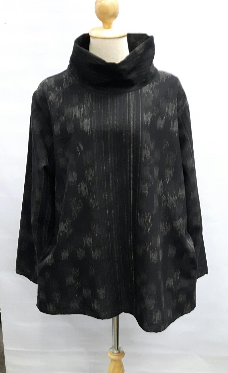 เสื้อผ้าฝ้ายพิมพ์ญี่ปุ่นลายคอพับแขนยาว