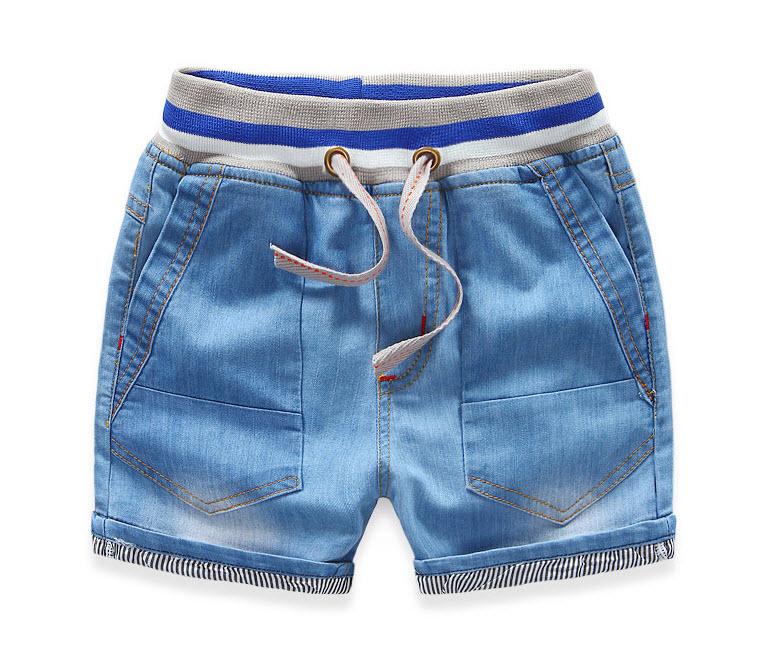 **กางเกงยีนต์ขาสั้นเอวยืดขอบน้ำเงิน   ตามรูป   104,110,116,128,140 (1-8 ปีโดยประมาณ)   5ตัว/แพ๊ค   เฉลี่ย 170/ตัว
