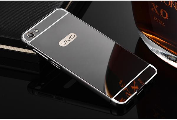 brand new 4dbc6 21a51 Case Vivo V5 Bumper ขอบอลูมิเนียม ฝาหลังเงา Black