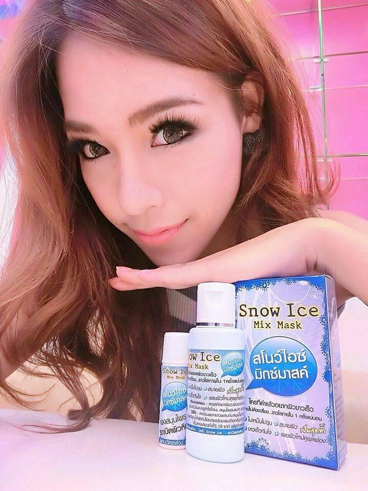 พอกขาว Snow ice mix mask