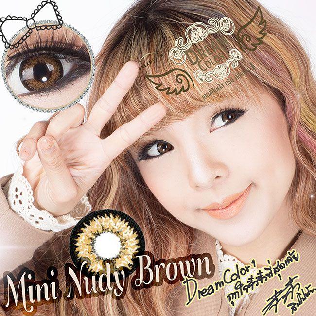 Nudy Brown Dreamcolor1 คอนแทคเลนส์ ขายส่งคอนแทคเลนส์ Bigeyeเกาหลี ขายส่งตลับคอนแทคเลนส์ ขายส่งน้ำยาล้างคอนแทคเลนส์