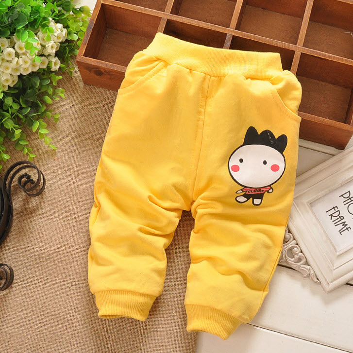 **กางเกงขายาวรูปเด็กชาย | เหลือง | M-L-XL-2XL | 4ตัว/แพ๊ค | เฉลี่ย 130/ตัว