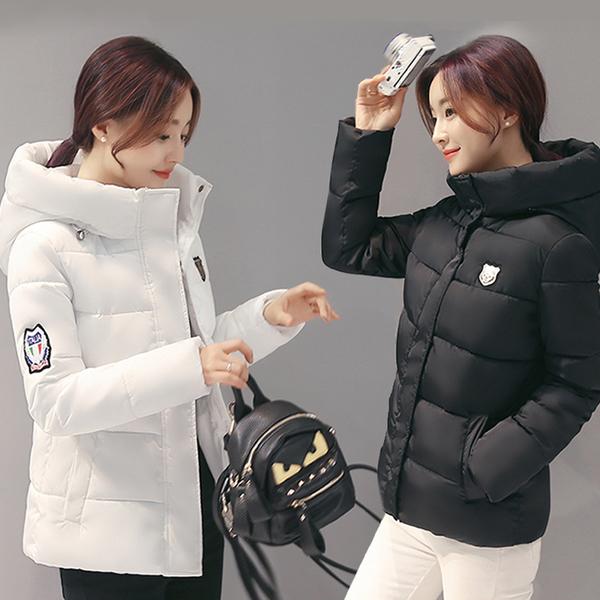 CW5911001 เสื้อโค้ทแจ๊กเก็ตผู้หญิงมีฮูดซิปหน้าตัวสั้นๆ(พรีออเดอร์) รอ 3 อาทิตย์หลังโอนเงิน