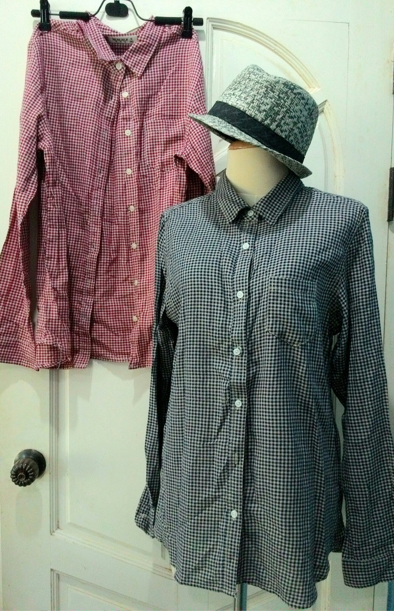 sm2 เสื้อเชิ้ตลายสก้อตสไตล์ญี่ปุ่น