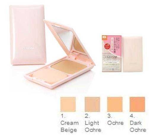 Cezanne Ultra Cover UV Foundation II SPF 35/PA++ #1 Cream Beige แป้งผสมรองพื้นตลับชมพู เน้นปกปิด คุมมันดีเยี่ยม เนื้อ Matte ค่ะ