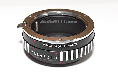 อแดปเตอร์แปลงท้ายเลนส์ A-MOUNT SONY ALPHA MINOLTA MA ใช้กับกล้อง M4/3