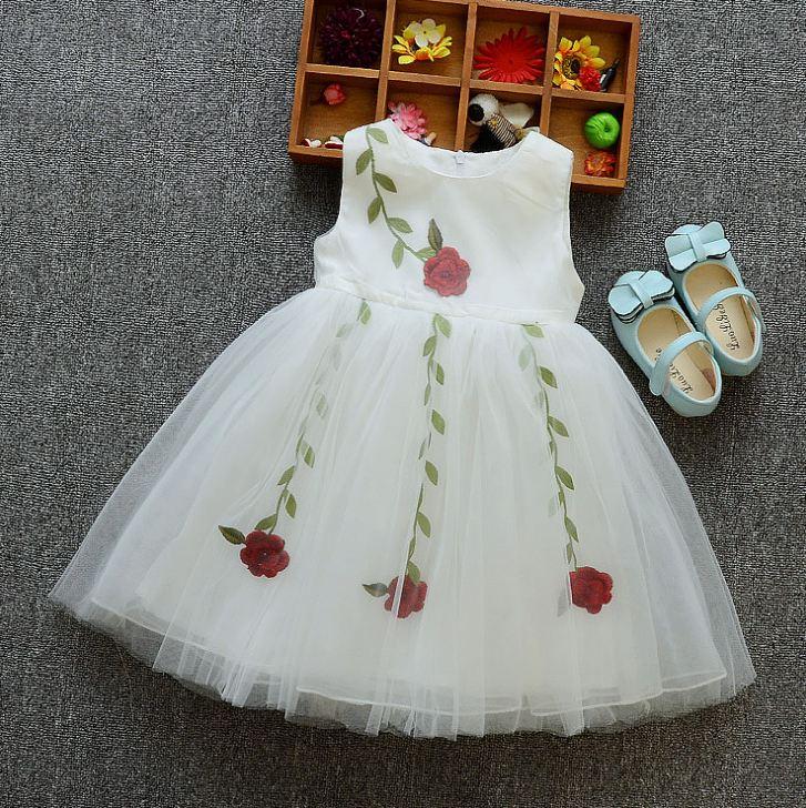 **เดรสชีฟองดอกกุหลาบสีขาว size:110-110-120-120(4 set/pack) | 4ชุด/แพ๊ค | เฉลี่ย 250/ชุด
