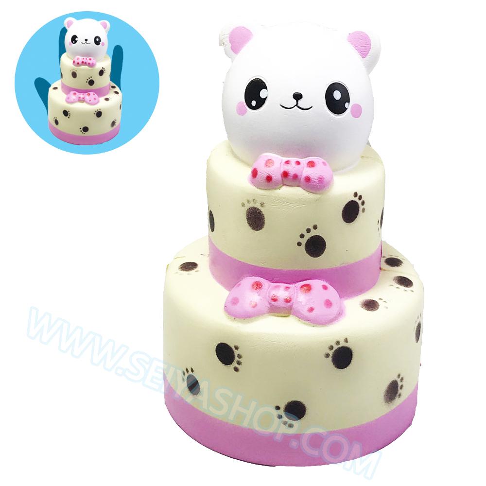 CB597 สกุชชี่ Bear Cake By Eric ขนาด 18 cm (Super Soft) ลิขสิทธิ์แท้
