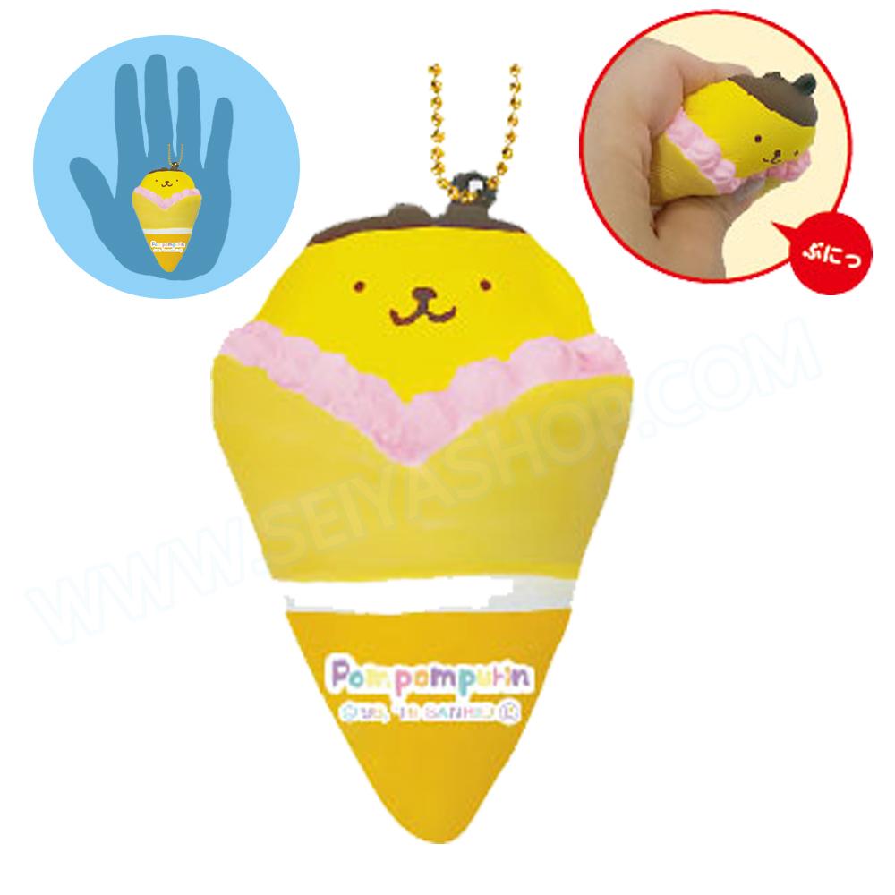 CA813 สกุชชี่ Pompompurin Crepe สีเหลือง ขนาด 9 cm (Soft) ลิขสิทธิ์แท้