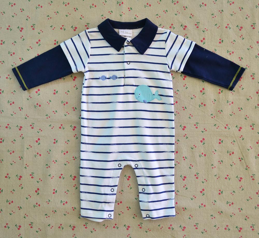 ไซส์ 6-9 เดือน Little Me บอดี้สูทแขนยาว ขายาว