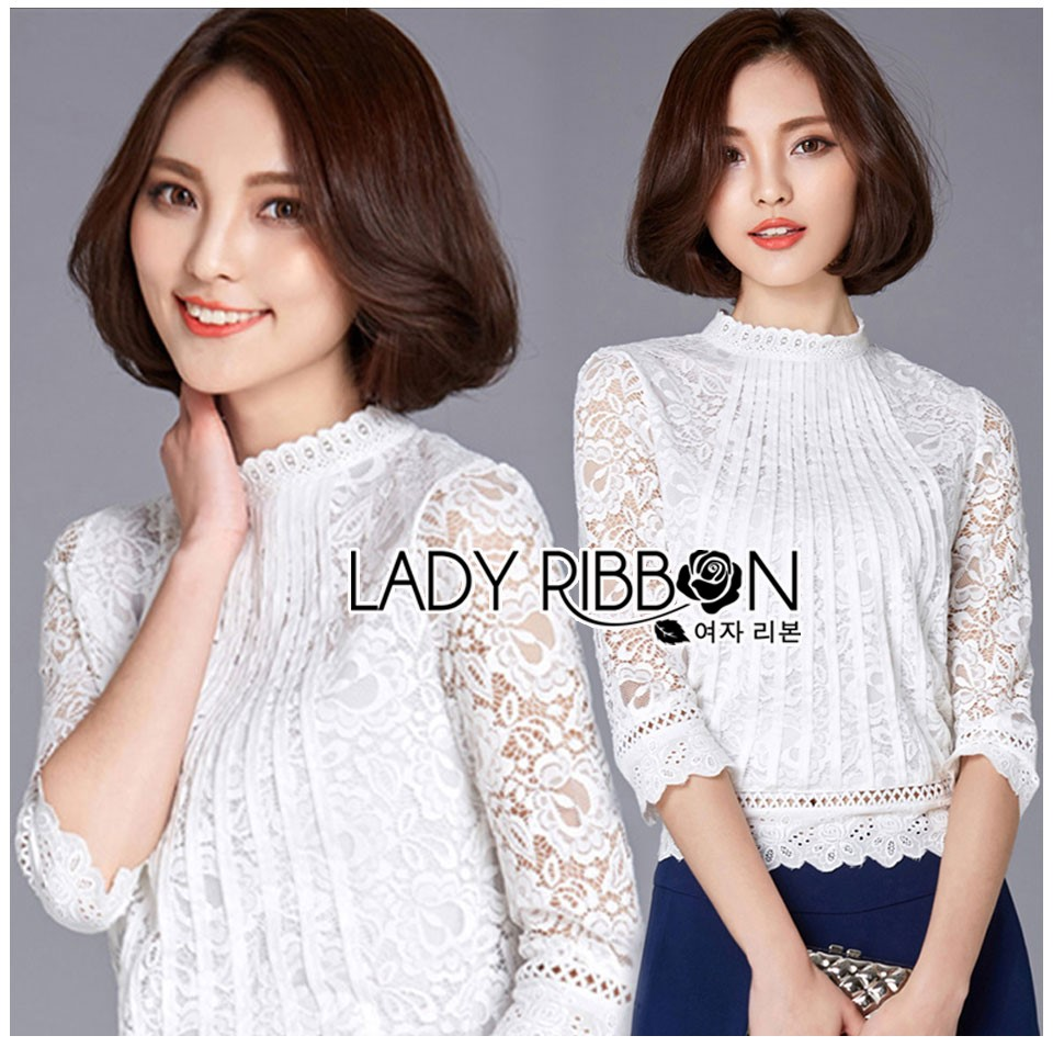 Lady Alessandra White Lace Blouse L265-6916