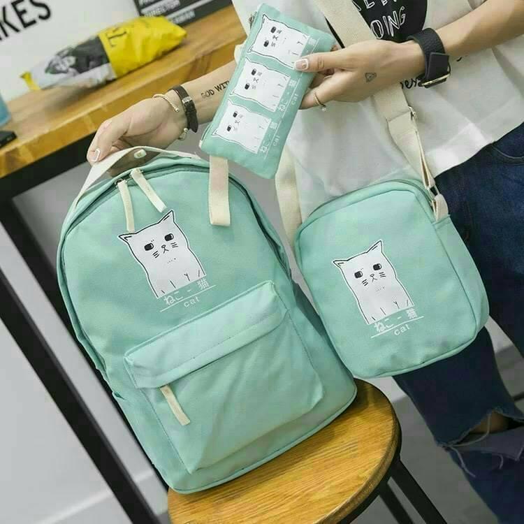 TK3014 กระเป๋า ชุดแมว เป็นเซ็ต ผ้าหนา