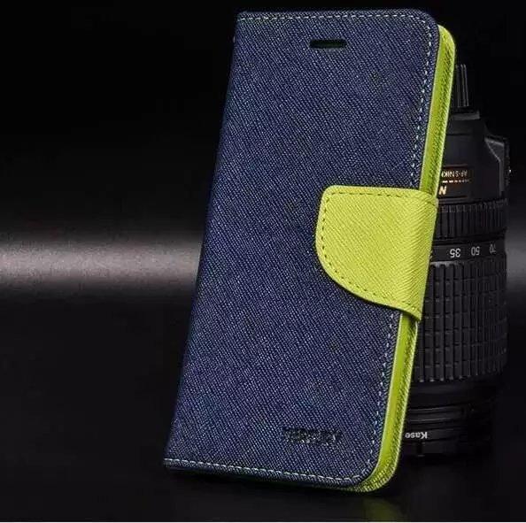 เคส asus zenfone go 5.5 zb552kl (ASUS_X007D) , asus zenfone dtac edition 5.5 เวอร์ชั่น 2 zb552kl (ASUS_X007D) ฝาพับ ฝาปิด fancy diary case สีน้ำเงิน-เขียว