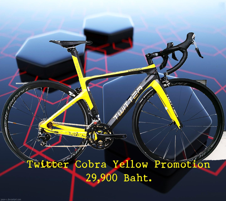 โปรโมชั่นใหม่ Twitter รุ่น Cobra 2018 เฟรมคาร์บอน Yellow Size 43.5 ชุดขับ Shimano 105 x 22 Speed