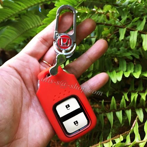 New ปลอกซิลิโคน หุ้มกุญแจรีโมทรถยนต์ Honda HR-V,Jazz,CR-V,BR-V Smart Key 2 ปุ่ม แบบใหม่
