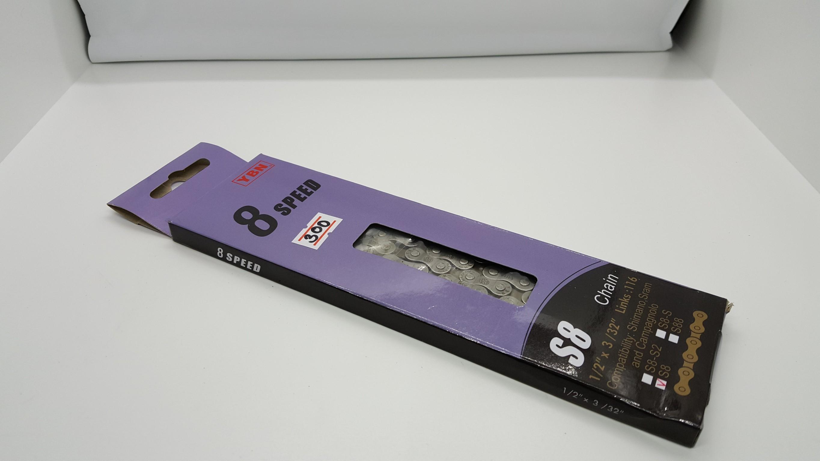 โซ่คุณภาพ YBN อลูมิเนียม 7-8 Speed 116 ลิงค์ พร้อมข้อต่อปลดเร็ว