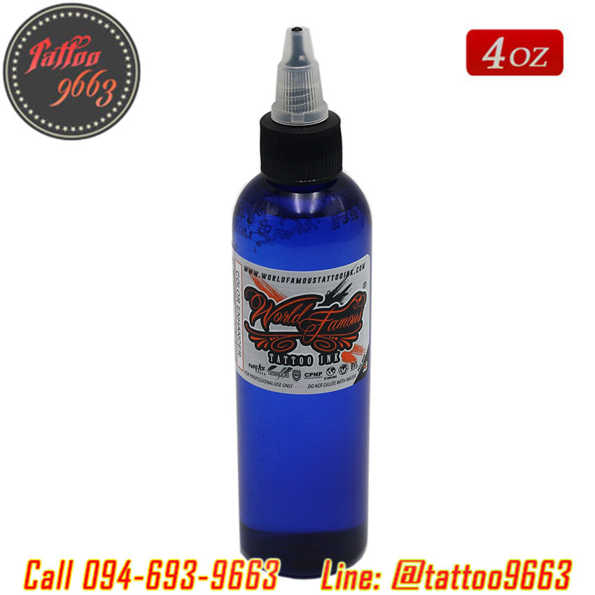 [WORLD FAMOUS] น้ำยาผสมหมึกสักลาย น้ำยาเร่งสีสักลาย น้ำยาผสมสีสักลาย น้ำยามิกซ์เวิลด์เฟมัส ขนาด 4 ออนซ์ World Famous Tattoo Ink Mixing Color Enhancer (4OZ/120ML)