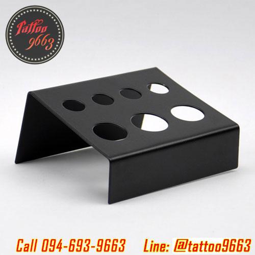 ถาดวางจุกสีสักโลหะสีดำแบบสั้น ถาดวางจุกใส่หมึกสัก ที่วางจุกหมึกสัก ที่วางจุกใส่สีสัก Black Iron Steel Tattoo Pigment Cup Holder (Short Type)
