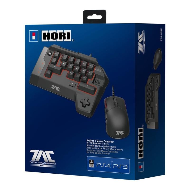 TAC4 ชุดคีย์บอร์ดและเมาส์ สำหรับ PS4 (HORI PS4-069E) ราคา 4790.- // ส่งฟรี