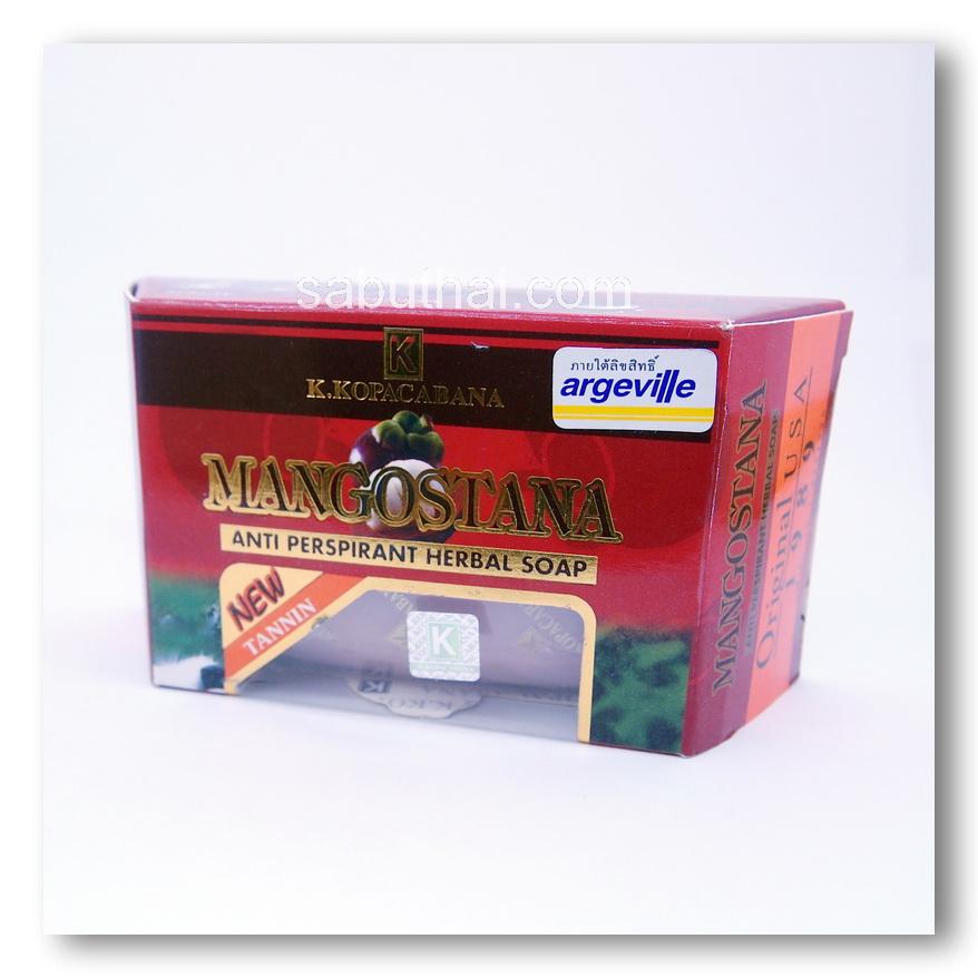สบู่มาดามเฮง K.KOPACABANA สบู่สมุนไพรมังคุดแท้ Mangostana Anti Perspirant Herbal Soap ต้นตำรับมาดามเฮง