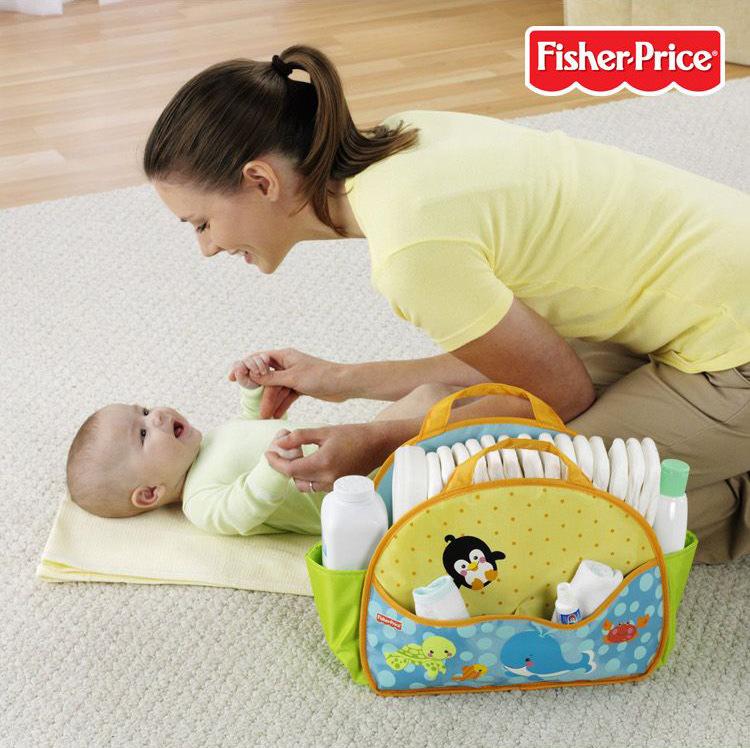 กระเป๋าจัดเก็บสัมภาระอาบน้ำ & แต่งตัว ยี่ห้อ Fisher-Price