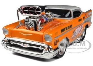 พรีออเดอร์ รถเหล็ก รถโมเดล US Muscle 1957 Chevrolet Bel Air Orange Maisto สเกล 1:24