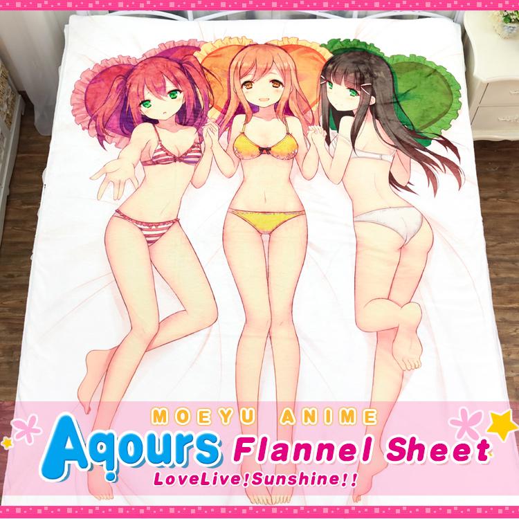 LoveLive!Sunshine!! Bikini Dia Ruby Hanamaru Bedsheet