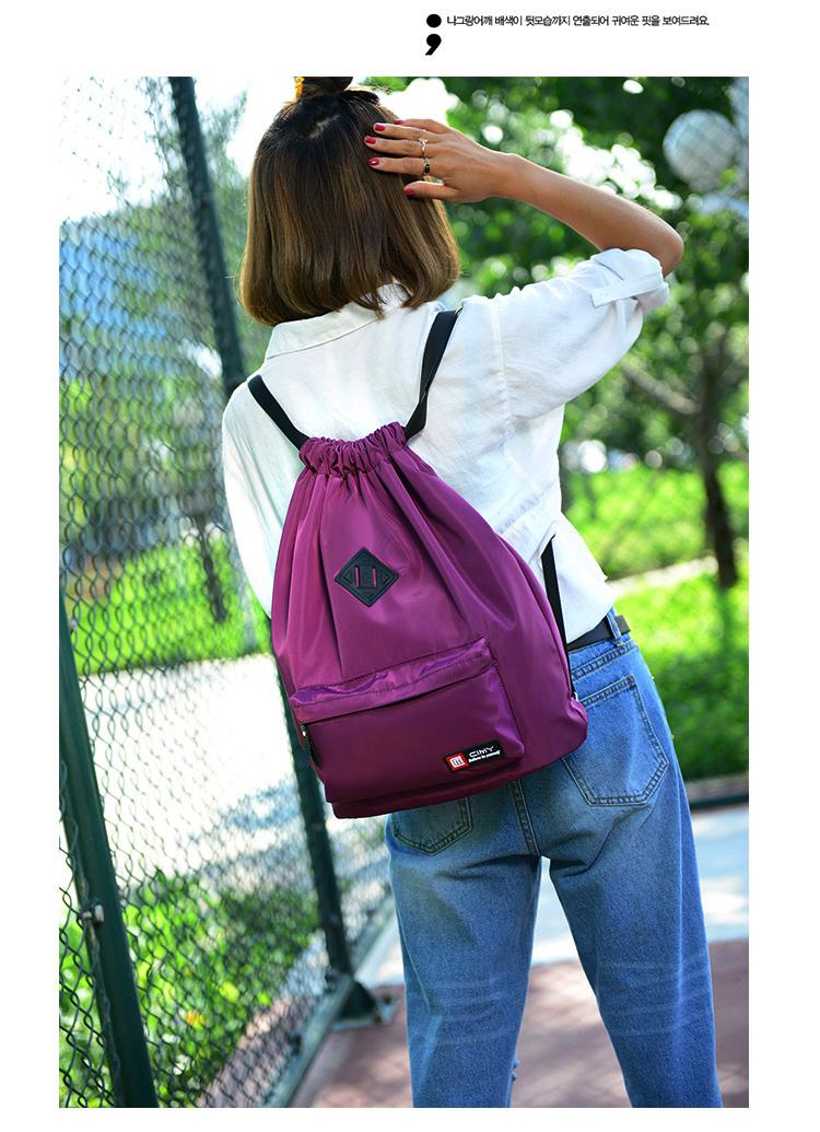 Bunny Drawstring bag (สีม่วง)
