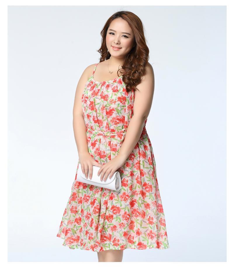 [พรีออเดอร์] เสื้้อเดรสแฟชั่นเกาหลีใหม่ แขนกุด ลายดอกไม้ สำหรับผู้หญิงไซส์ใหญ่ - [Preorder] New Korean Fashion Dress Sleeveless for Large Size Woman