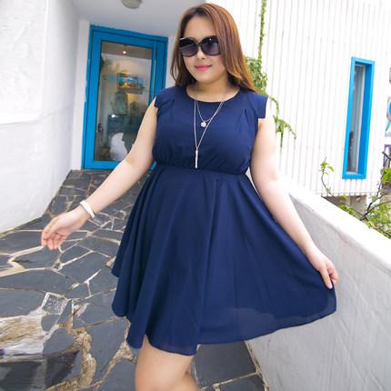 **พรีออเดอร์** ชุดเดรสแฟชั่นเกาหลีใหม่ กระโปรง แบบเก๋ น่ารัก สำหรับผู้หญิงไซส์หญ่ / **Preorder** New Korean Fashion Dress Skirt Pattern for Large Size Woman