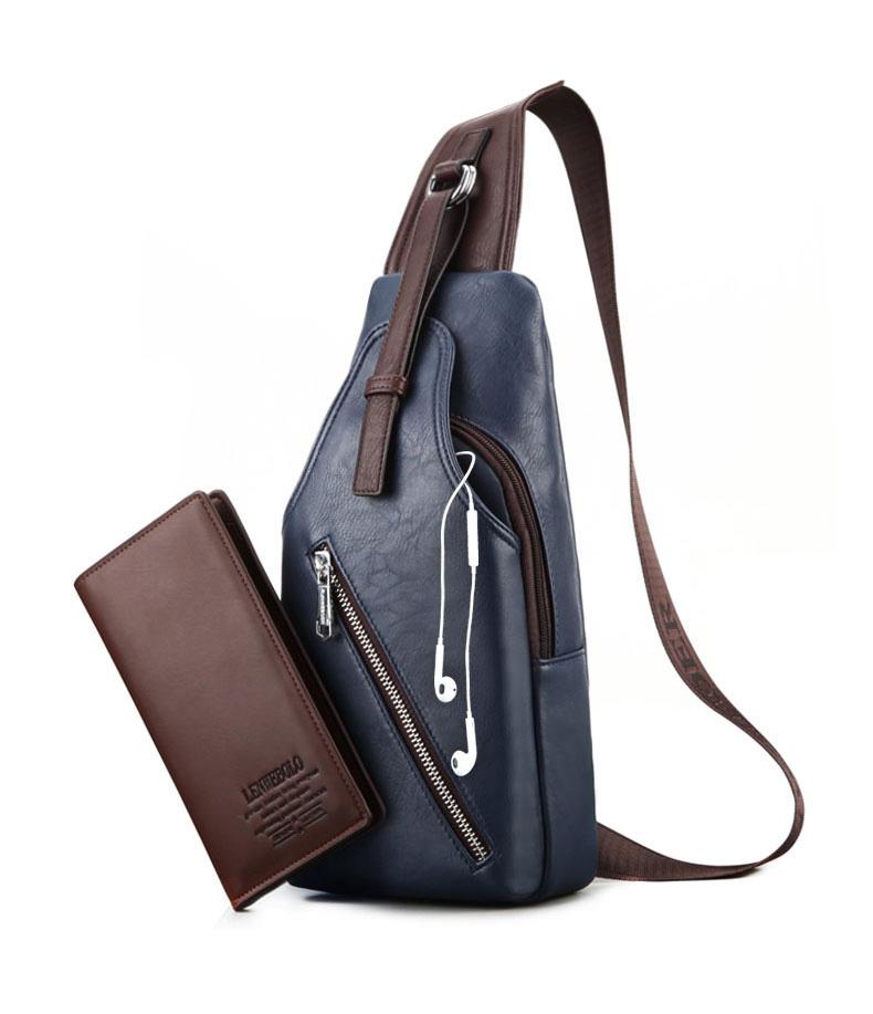 กระเป๋าคาดอก ผู้ชาย/ผู้หญิง MK BOLO แถมฟรีกระเป๋าสตางค์