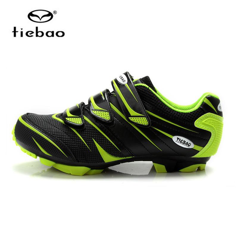 รองเท้าจักรยานเสือภูเขา TIEBAO รุ่น TB35-B816A สีดำเขียว