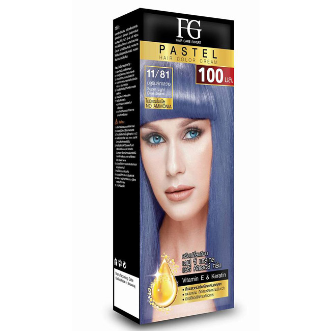 FG Pastel Hair Color Cream 11/81 บลูยีนส์เทาสว่าง Super Light Blue Jeans