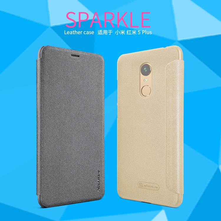 เคสมือถือ Xiaomi Redmi 5 Plus (จอ 5.99 นิ้ว) รุ่น Sparkle Leather Case