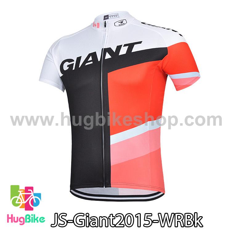 เสื้อจักรยานแขนสั้นทีม Giant 2015 สีขาวแดงดำ สั่งจอง (Pre-order)