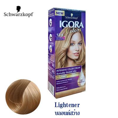 Schwarzkopf IGORA Colors อีโกร่า อินเทนซีฟ คัลเลอร์ ครีม 12-4 lightener บลอนด์สว่าง